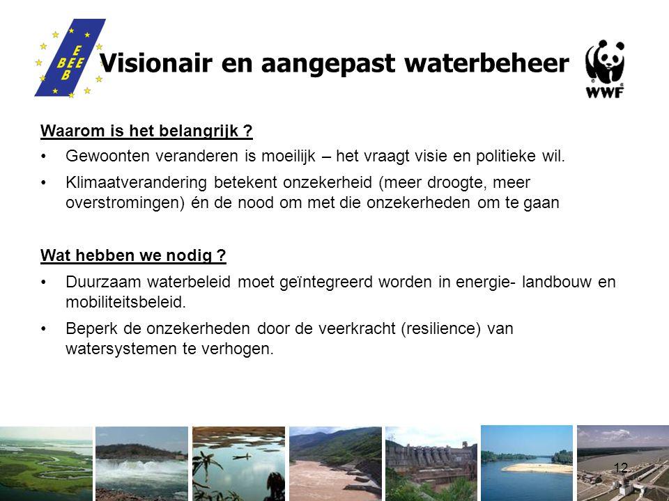 12 Visionair en aangepast waterbeheer Waarom is het belangrijk .
