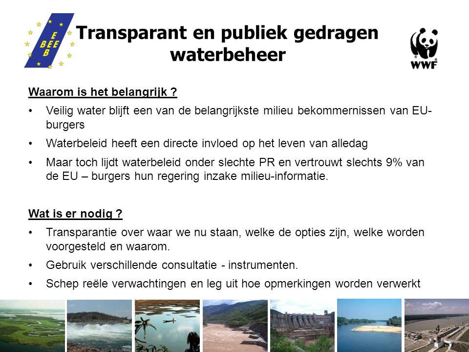 4 Transparant en publiek gedragen waterbeheer Waarom is het belangrijk .