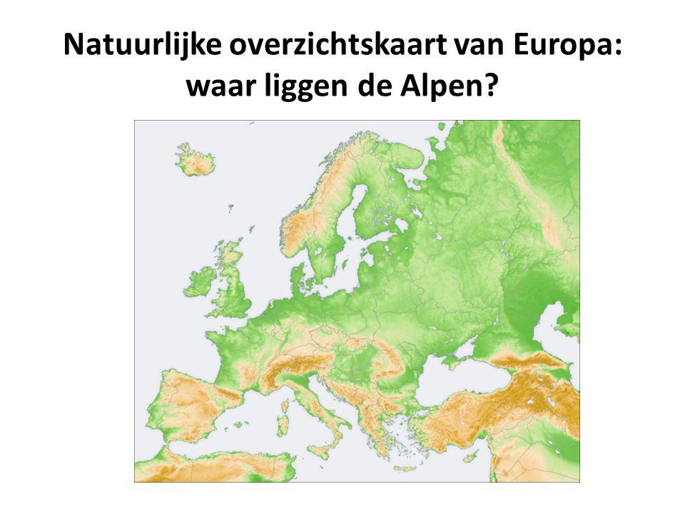 We zoomen verder in: welke Alpenlanden ken je? Waar liggen ze?
