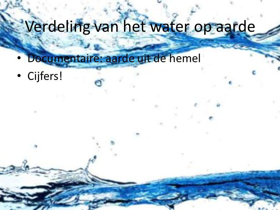 Verdeling van het water op aarde Documentaire: aarde uit de hemel Cijfers!