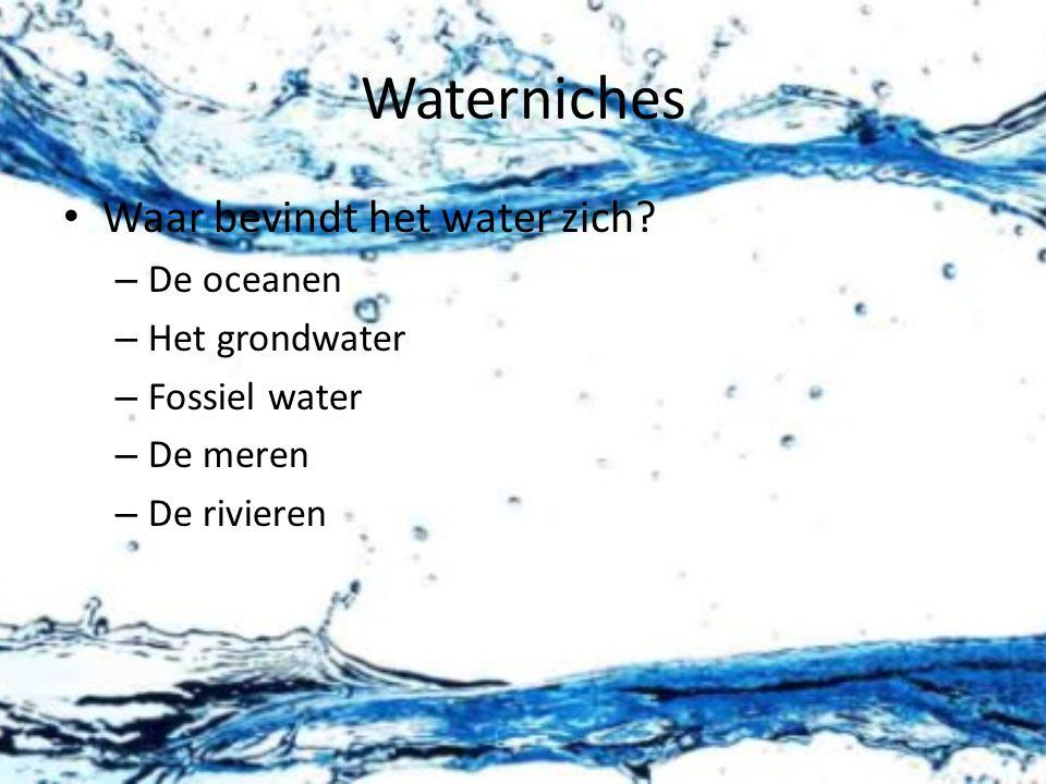 Waterniches Waar bevindt het water zich.