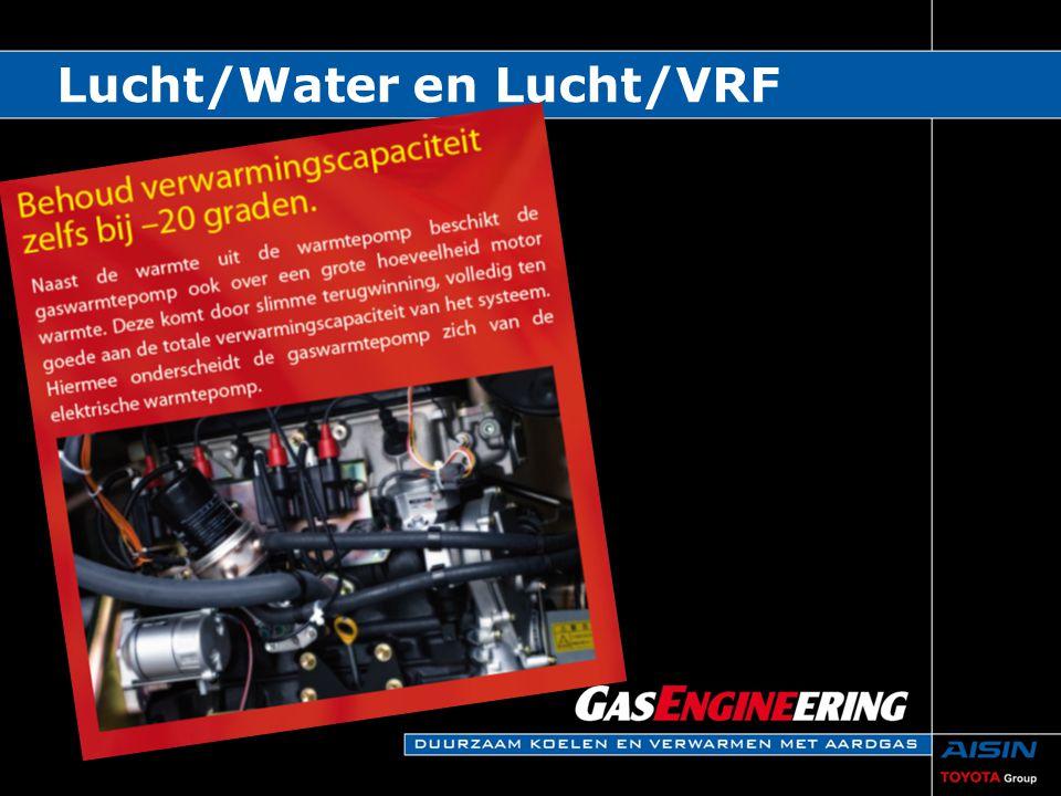 Traploze capaciteit regeling van 10 tot 100%  Bij toepassing hydromodule van 70 tot 100% Compressoren