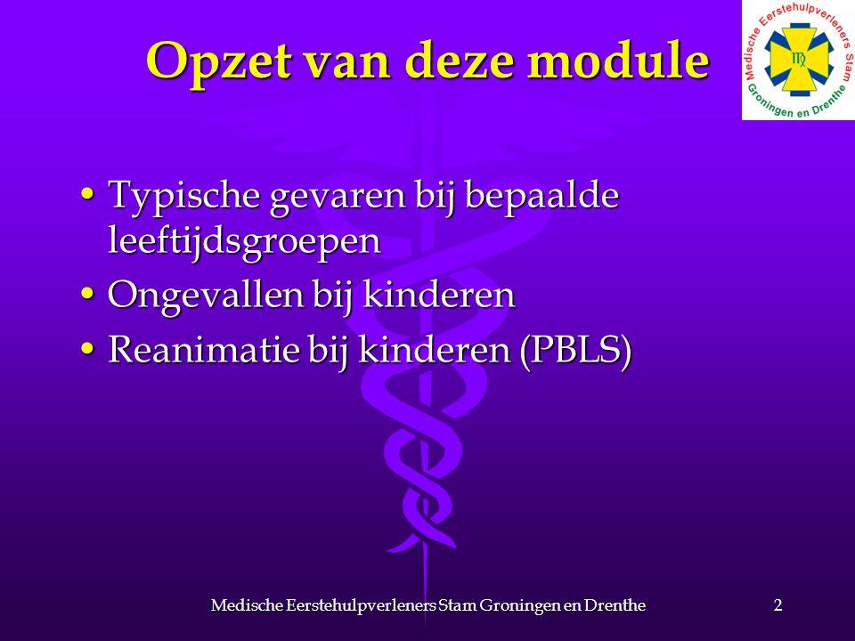 Opzet van deze module Typische gevaren bij bepaalde leeftijdsgroepenTypische gevaren bij bepaalde leeftijdsgroepen Ongevallen bij kinderenOngevallen b