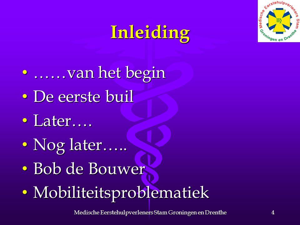 Inleiding ……van het begin ……van het begin De eerste buil De eerste buil Later…. Later…. Nog later….. Nog later….. Bob de Bouwer Bob de Bouwer Mobilite