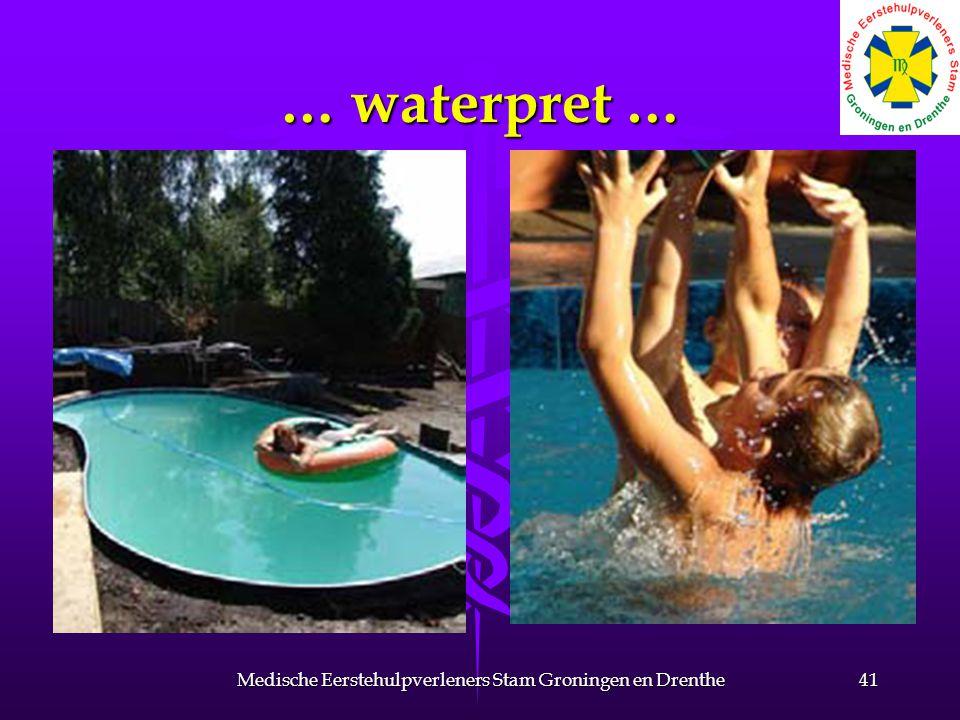 … waterpret … 41Medische Eerstehulpverleners Stam Groningen en Drenthe