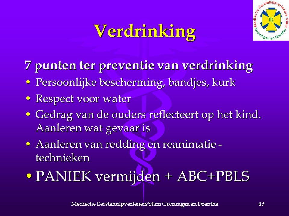 Verdrinking 7 punten ter preventie van verdrinking Persoonlijke bescherming, bandjes, kurkPersoonlijke bescherming, bandjes, kurk Respect voor waterRespect voor water Gedrag van de ouders reflecteert op het kind.