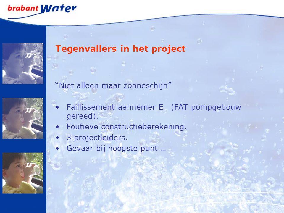 """Tegenvallers in het project """"Niet alleen maar zonneschijn"""" Faillissement aannemer E (FAT pompgebouw gereed). Foutieve constructieberekening. 3 project"""