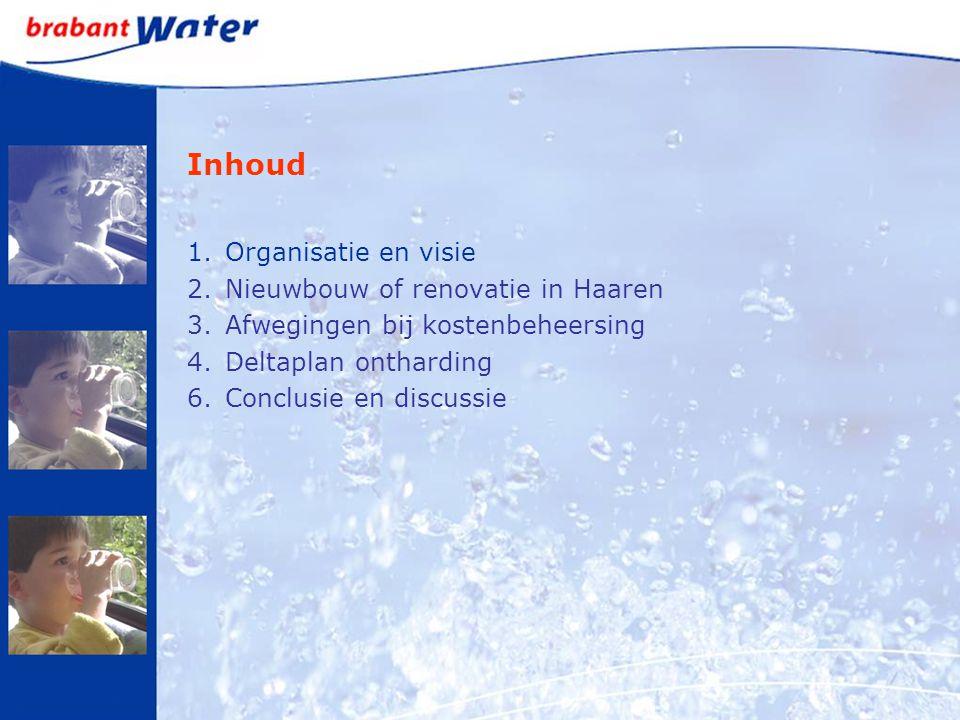Inhoud 1.Organisatie en visie 2.Nieuwbouw of renovatie in Haaren 3.Afwegingen bij kostenbeheersing 4.Deltaplan ontharding 6.Conclusie en discussie