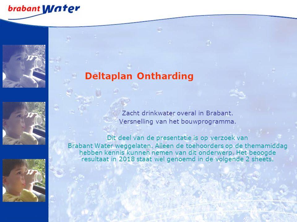 Zacht drinkwater overal in Brabant. Versnelling van het bouwprogramma. Dit deel van de presentatie is op verzoek van Brabant Water weggelaten. Alleen