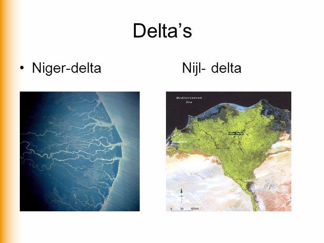Delta's Niger-deltaNijl- delta