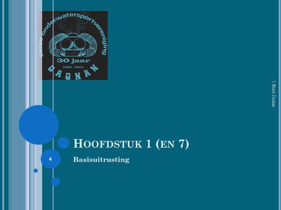 H OOFDSTUK 1 ( EN 7) Basisuitrusting 1 Sters Duiker 4