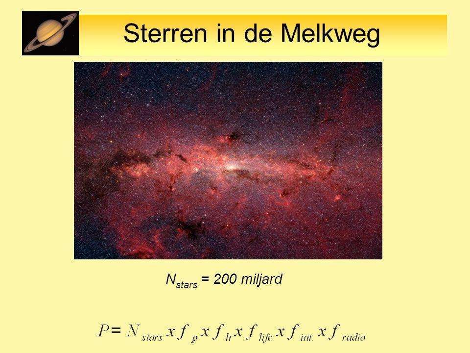 Sterren in de Melkweg N stars = 200 miljard
