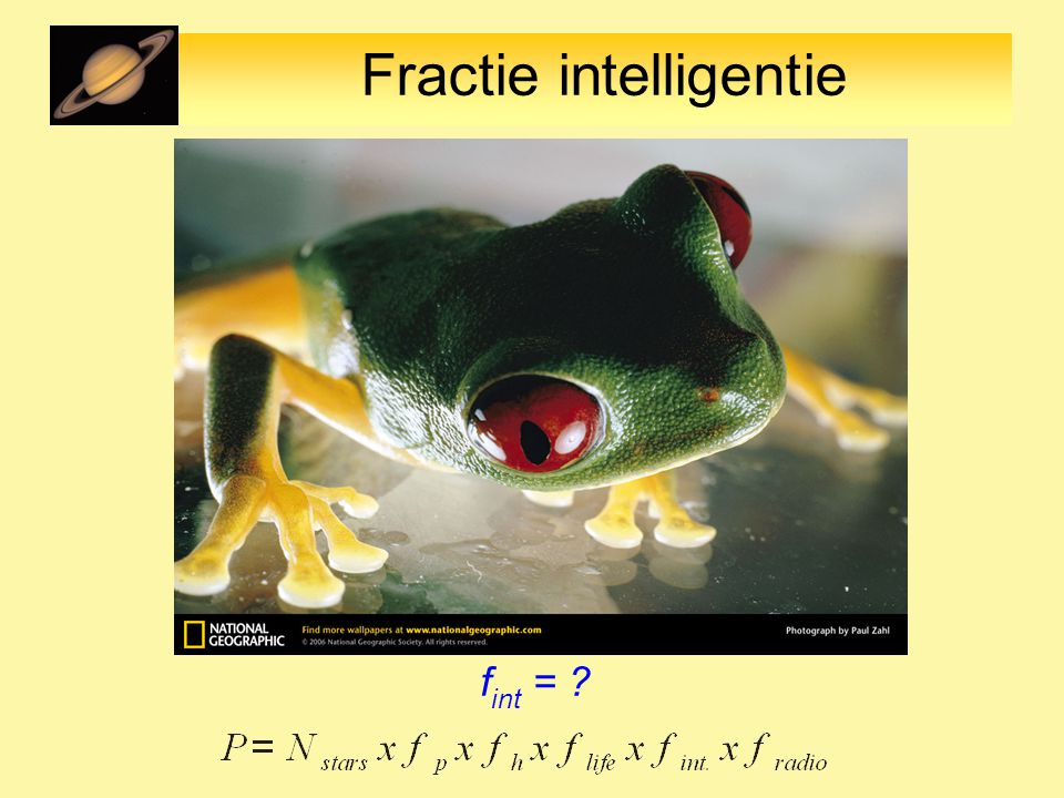 Fractie intelligentie f int = ?