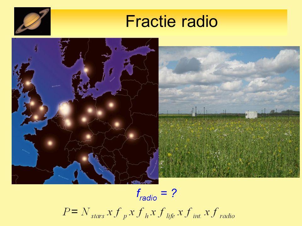 Fractie radio f radio = ?