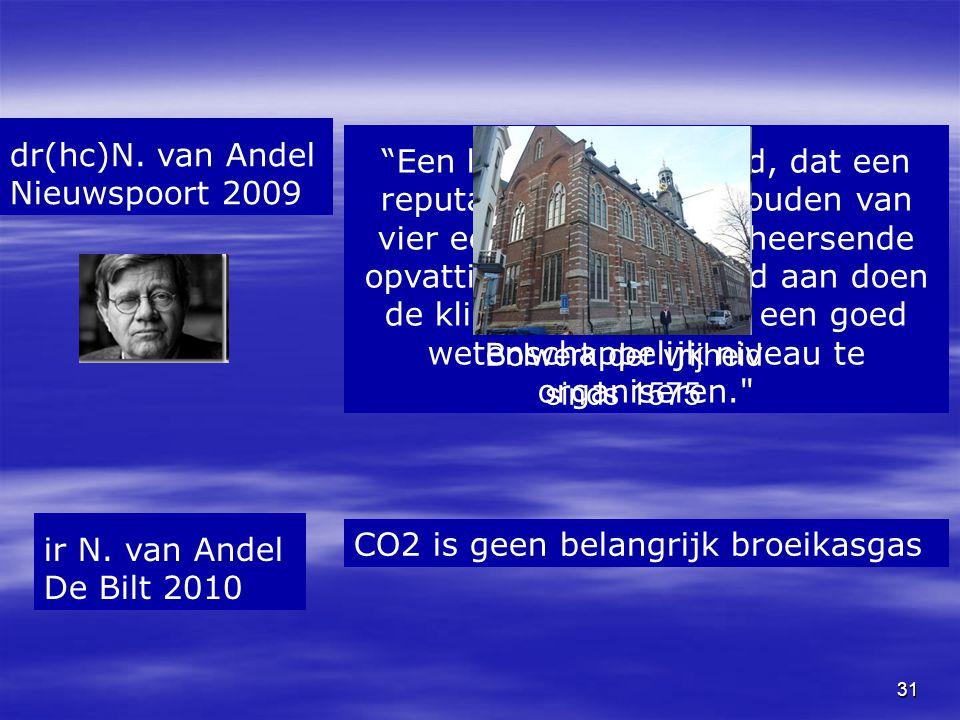 """31 """"Een land als Nederland, dat een reputatie heeft op te houden van vier eeuwen kritiek op heersende opvattingen, zou er goed aan doen de klimaatdisc"""