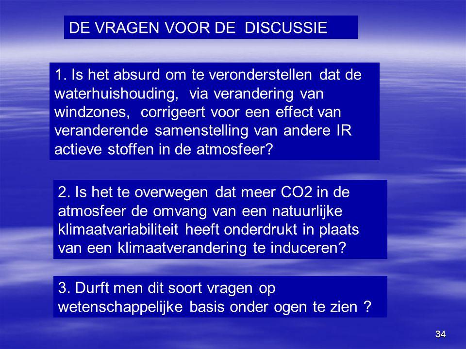 34 1. Is het absurd om te veronderstellen dat de waterhuishouding, via verandering van windzones, corrigeert voor een effect van veranderende samenste