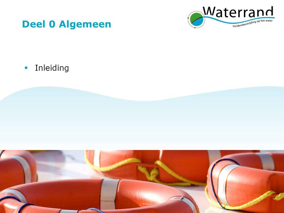 Project Waterrand 12 Deel 0 Algemeen  Inleiding