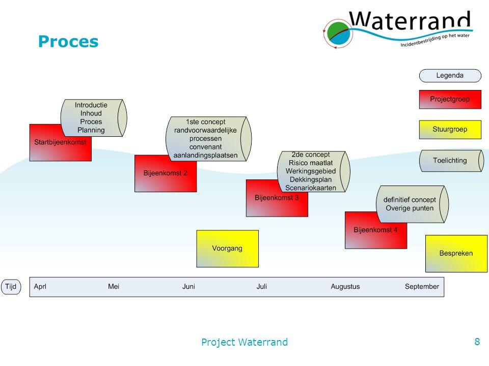 Project Waterrand 9 Planning projectgroep Startbijeenkomst Donderdag 23 april Arnhem Maandag 8 juni Ochtend 9:00 - 12:00 Arnhem Donderdag 9 juli Ochtend 9:00 - 12:00 Arnhem Dinsdag 25 augustus Ochtend 9:00 - 12:00 Arnhem