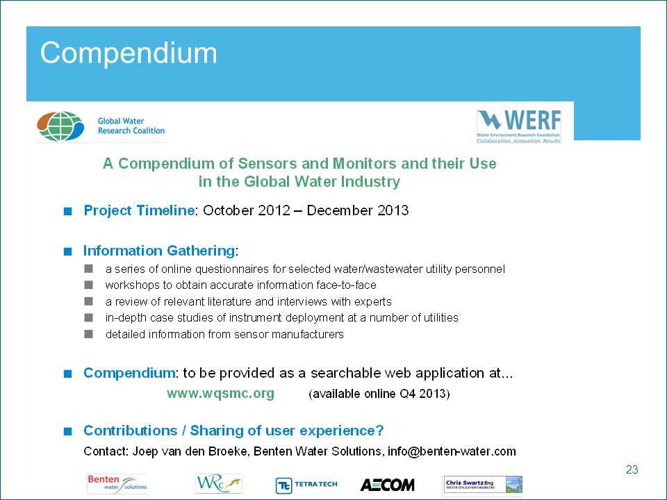 23 Watercycle Research Institute Compendium