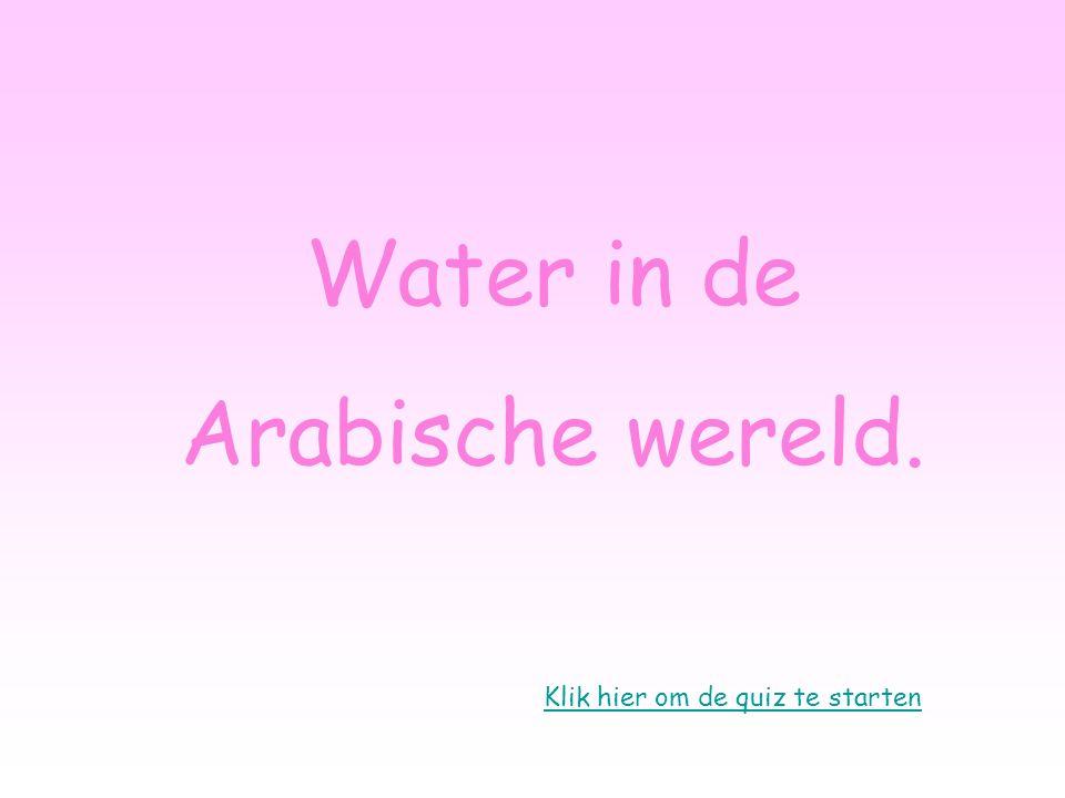 Klik hier om de quiz te starten Water in de Arabische wereld.