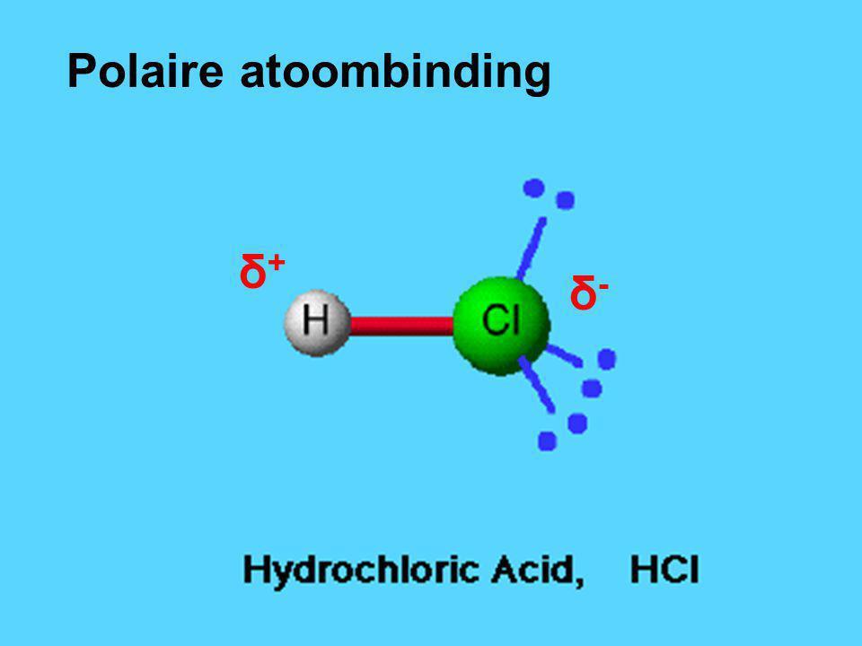 δ+δ+ δ-δ- Polaire atoombinding