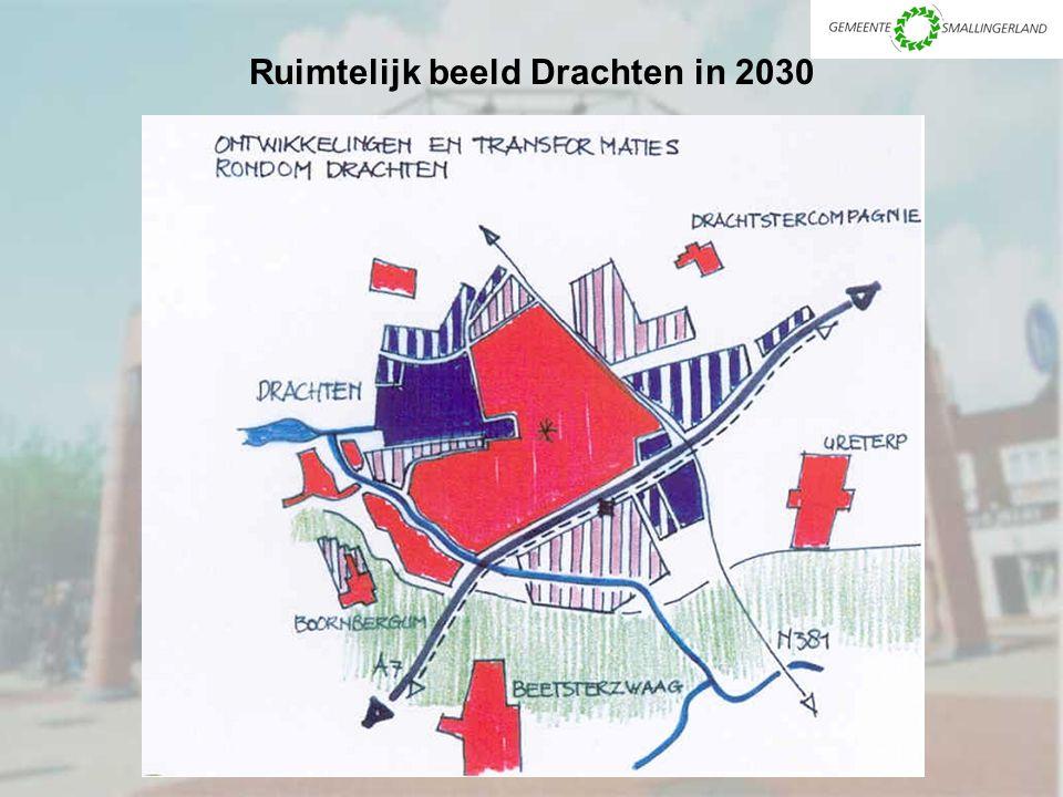 Ruimtelijk beeld Drachten in 2030