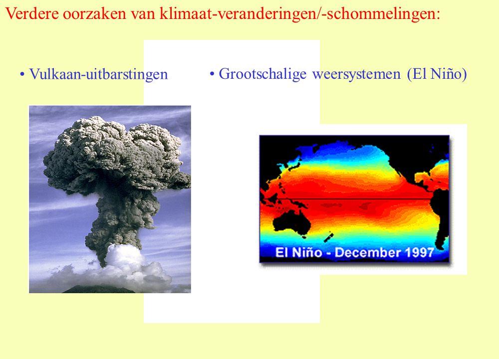 Vulkaan-uitbarstingen Verdere oorzaken van klimaat-veranderingen/-schommelingen: Grootschalige weersystemen (El Niño)