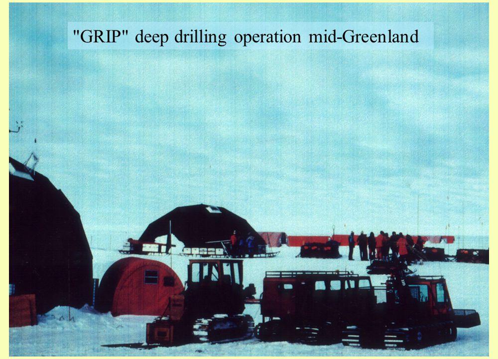 GRIP deep drilling operation mid-Greenland