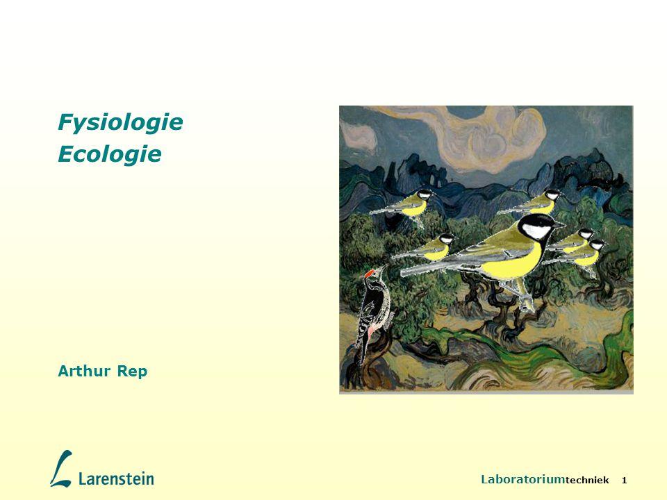 Laboratorium techniek 42 Life-history Life history Schema van reproductie en sterfte Allocatie: nakomelingen of overleving.