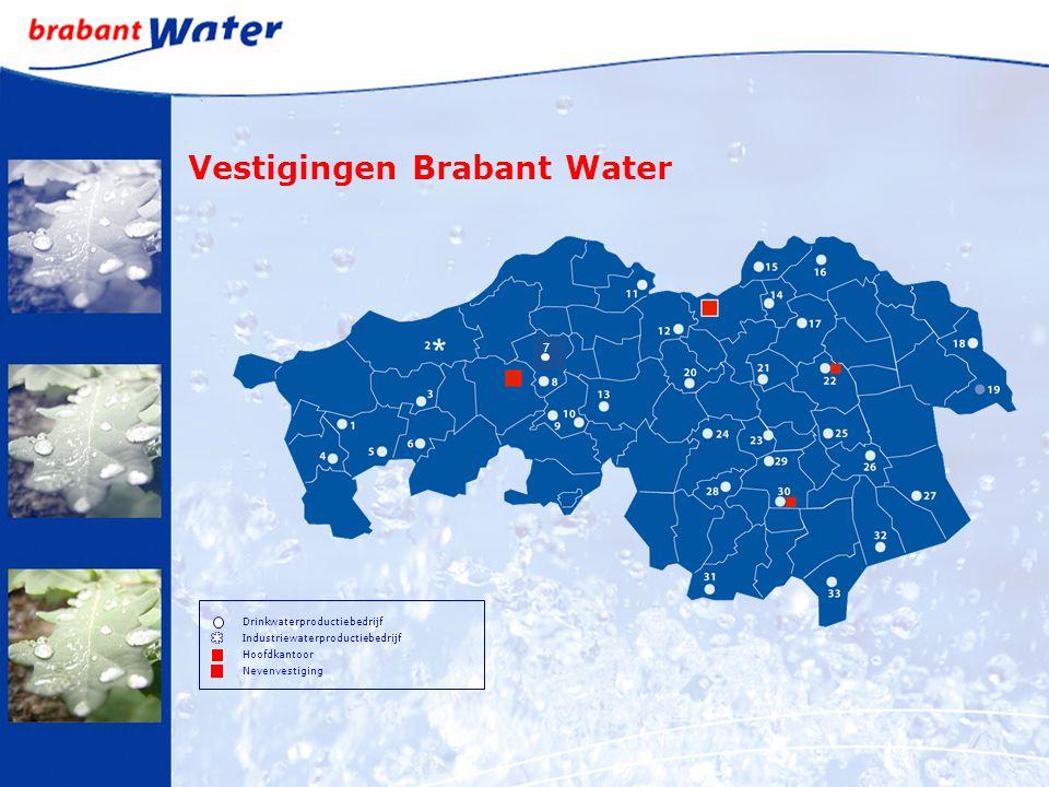 Vestigingen Brabant Water Drinkwaterproductiebedrijf Industriewaterproductiebedrijf Hoofdkantoor Nevenvestiging 7