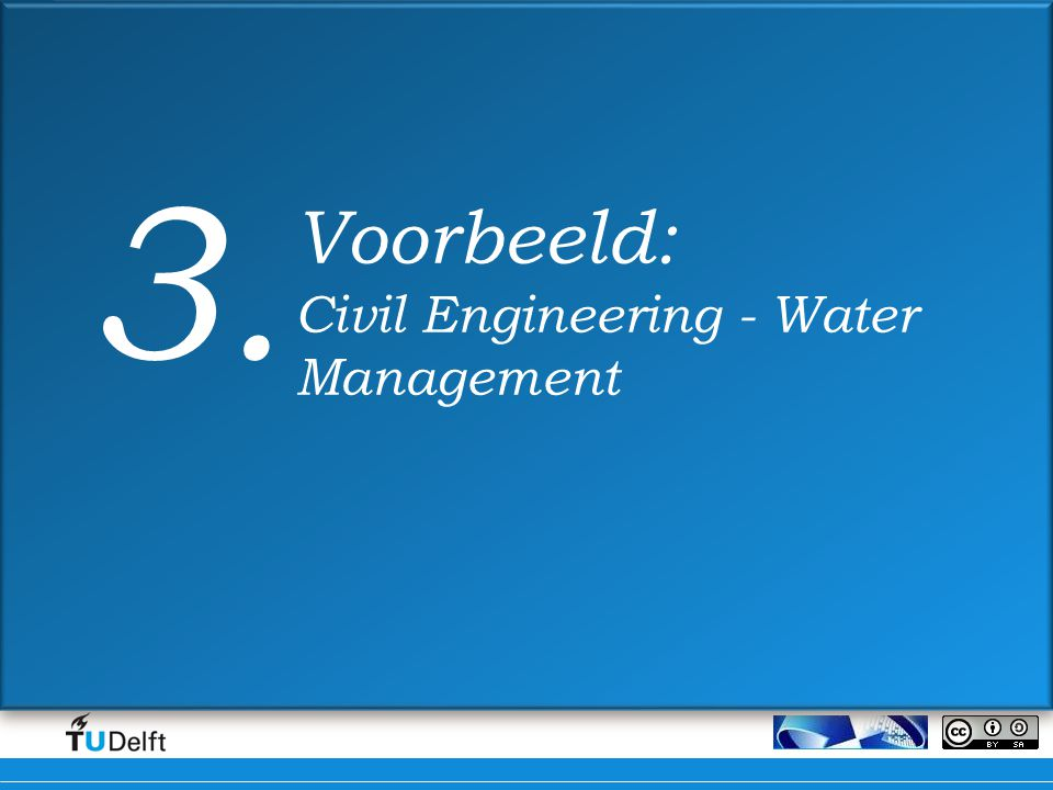 Voorbeeld: Civil Engineering - Water Management 3.