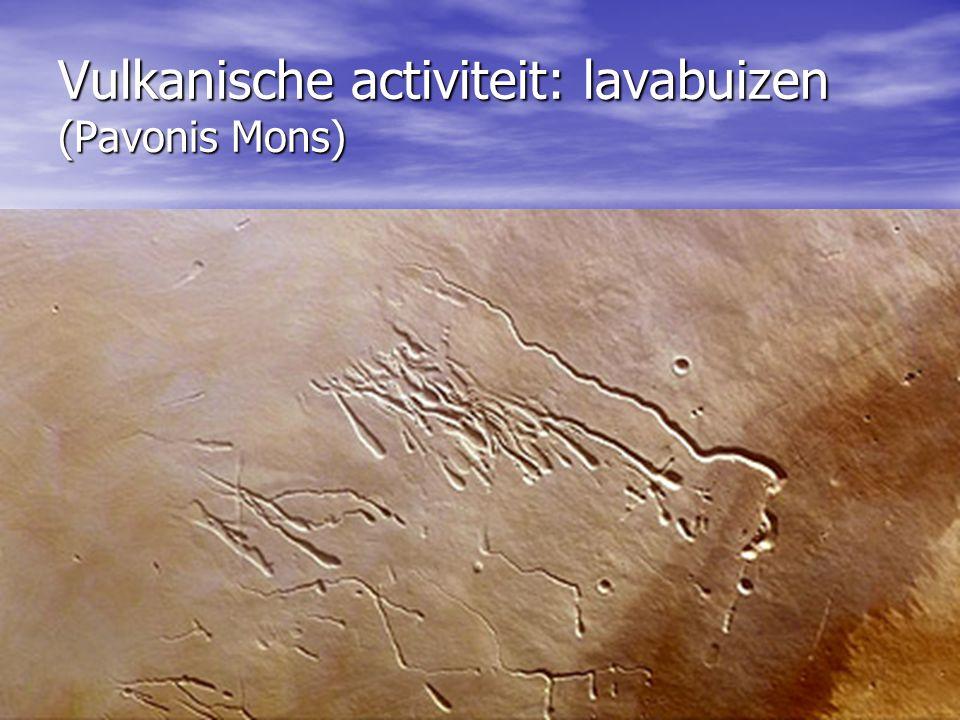 Vulkanische activiteit: lavabuizen (Pavonis Mons)