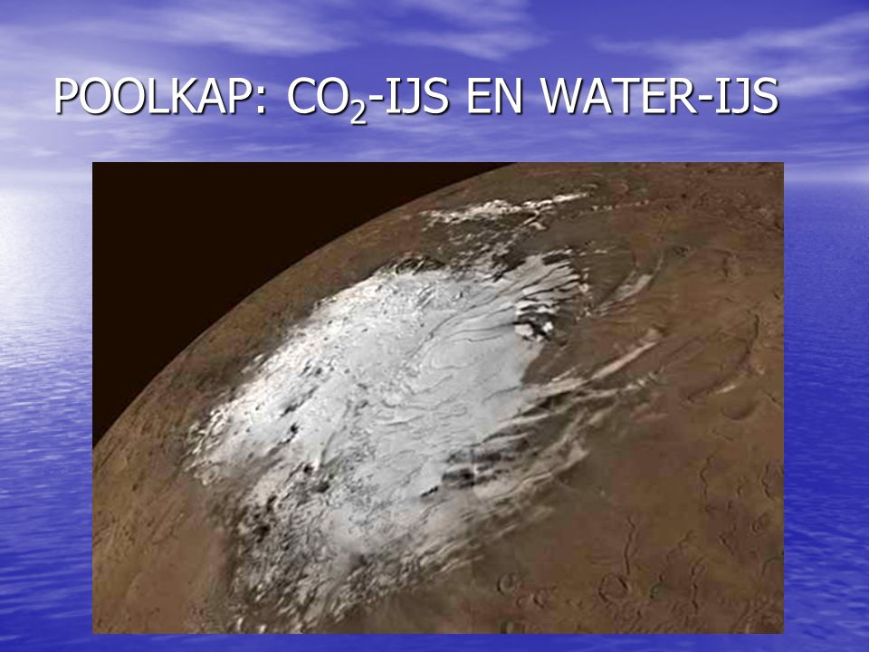 POOLKAP: CO 2 -IJS EN WATER-IJS