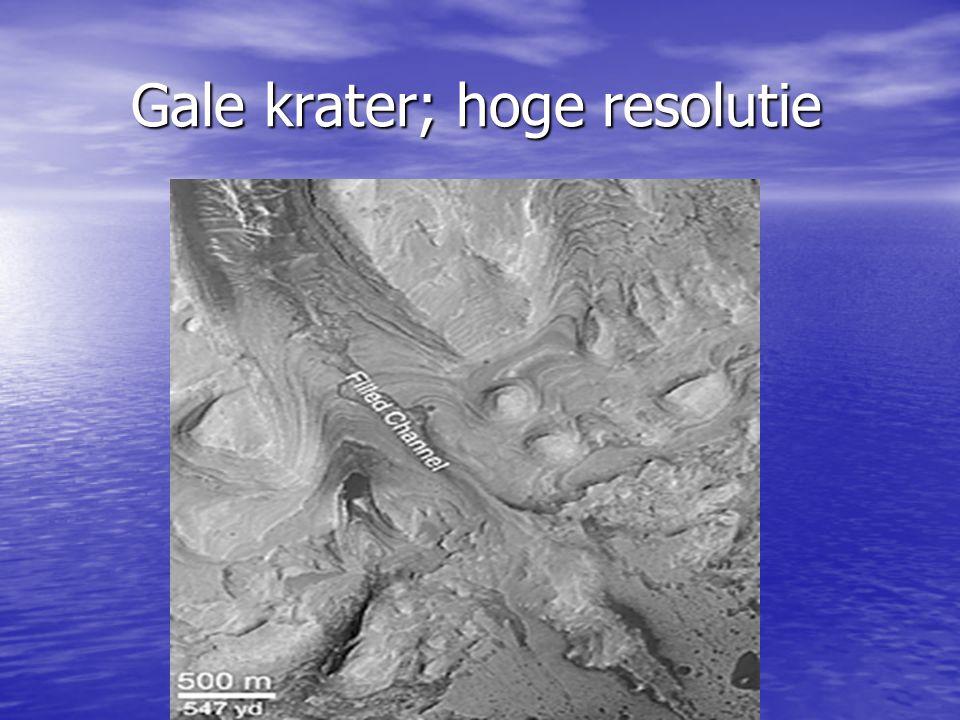 Gale krater; hoge resolutie Gale krater; hoge resolutie