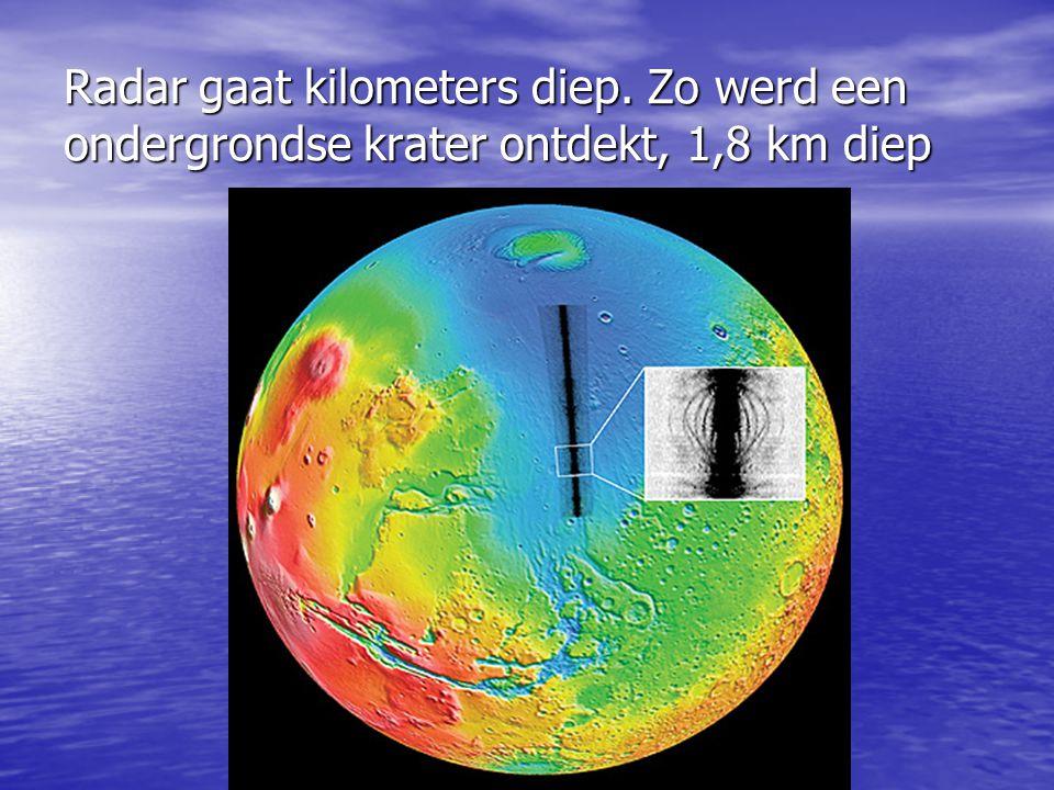Radar gaat kilometers diep. Zo werd een ondergrondse krater ontdekt, 1,8 km diep