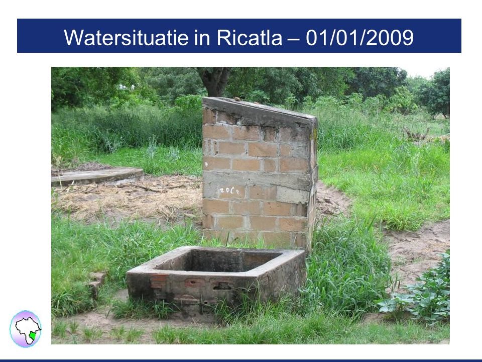 Watersituatie in Ricatla – 01/01/2009