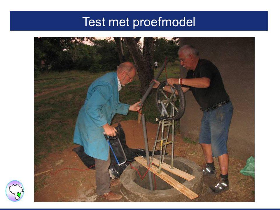 Test met proefmodel