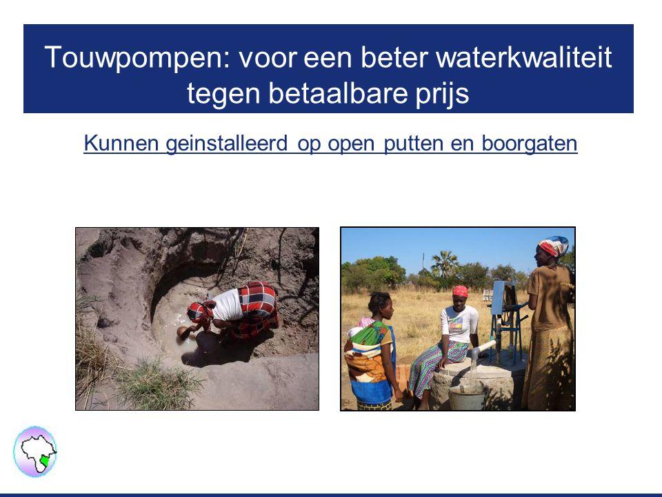Touwpompen: voor een beter waterkwaliteit tegen betaalbare prijs Kunnen geinstalleerd op open putten en boorgaten