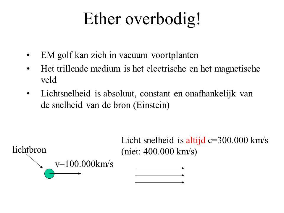 Ether overbodig.