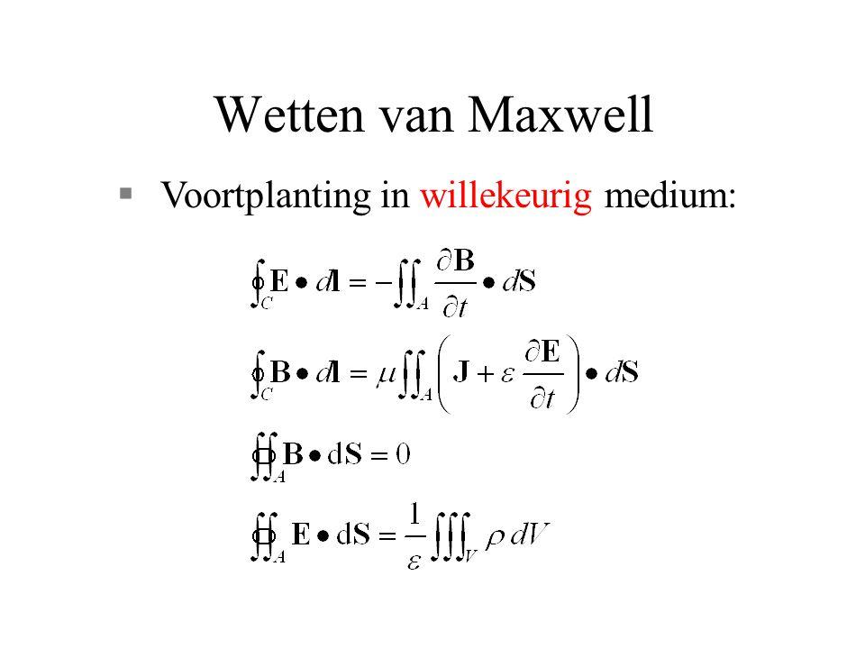 Wetten van Maxwell §Voortplanting in willekeurig medium: