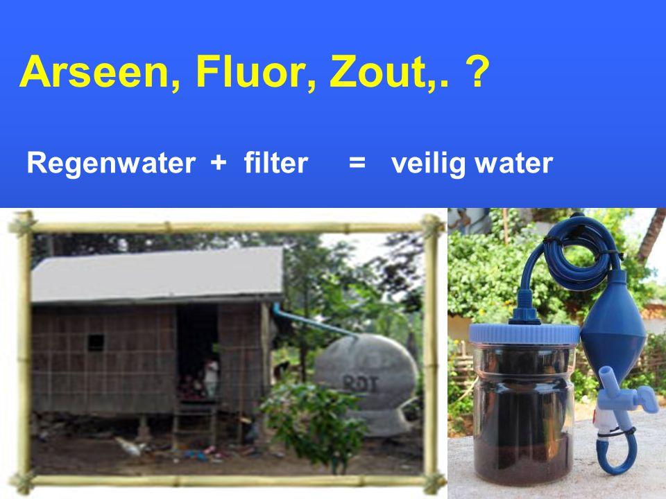 Arseen, Fluor, Zout,. ? Regenwater + filter = veilig water