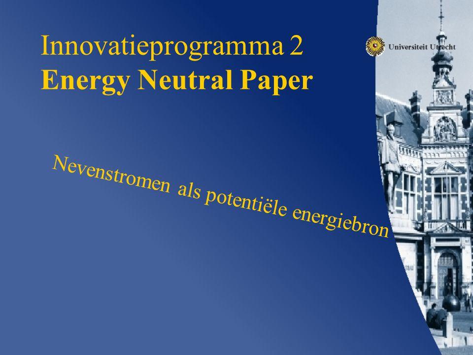 Innovatieprogramma 2 Energy Neutral Paper Nevenstromen als potentiële energiebron