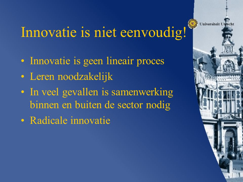 Wat is er gaande Innovatie m.b.t.