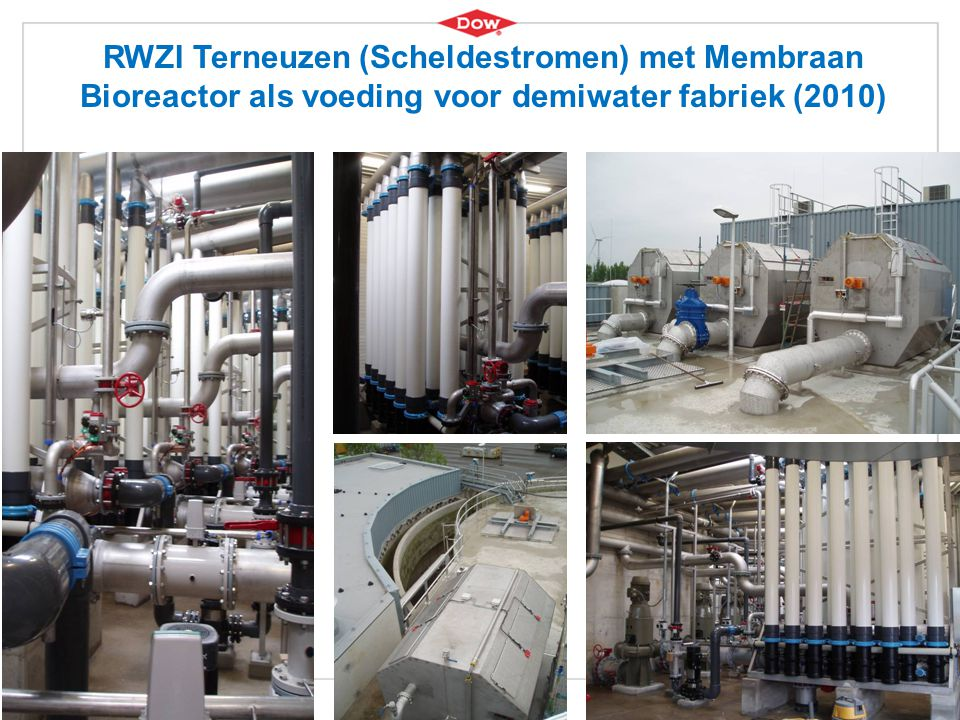 7 RWZI Terneuzen (Scheldestromen) met Membraan Bioreactor als voeding voor demiwater fabriek (2010)