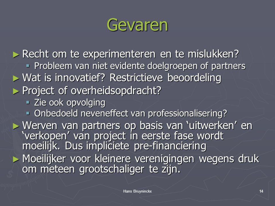 Hans Bruyninckx14 Gevaren ► Recht om te experimenteren en te mislukken.