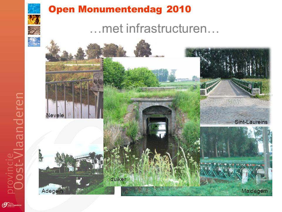 Open Monumentendag 2010 …met infrastructuren… Nevele Sint-Laureins duiker AdegemMaldegem