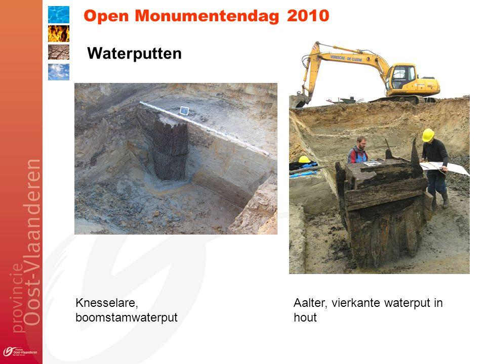 Open Monumentendag 2010 Knesselare, boomstamwaterput Aalter, vierkante waterput in hout Waterputten