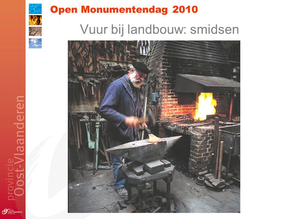 Open Monumentendag 2010 Vuur bij landbouw: smidsen