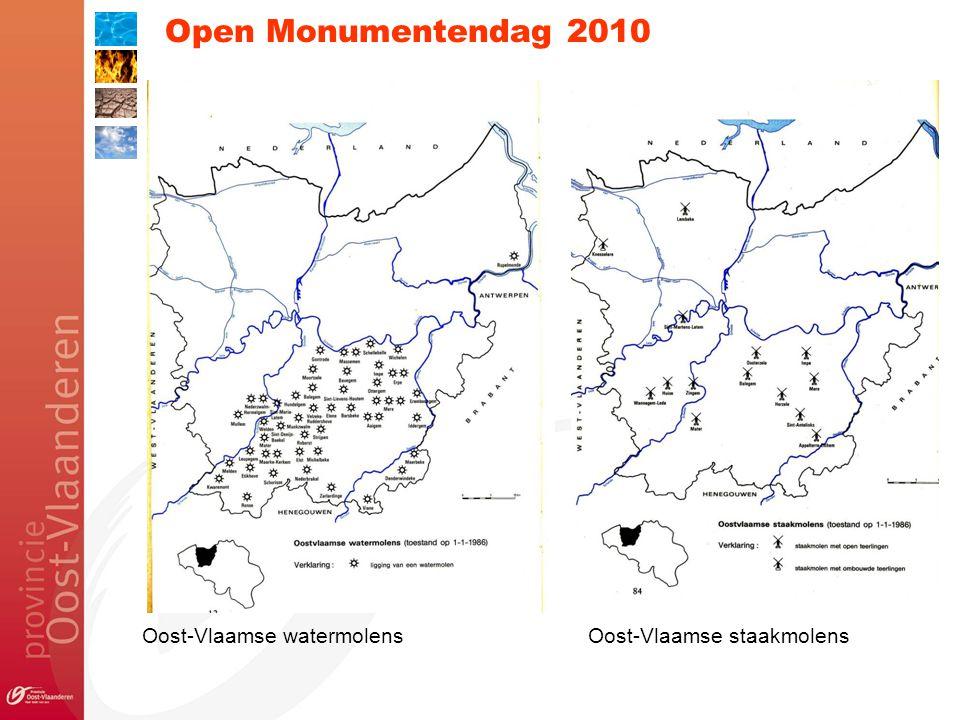Open Monumentendag 2010 Oost-Vlaamse watermolensOost-Vlaamse staakmolens