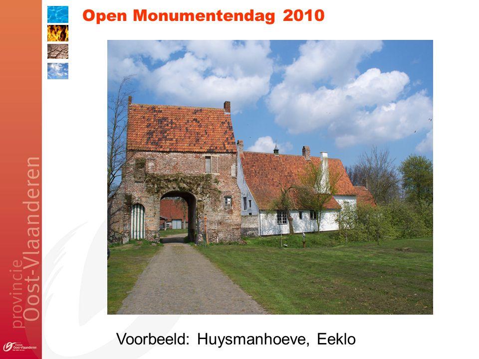 Open Monumentendag 2010 Voorbeeld: Huysmanhoeve, Eeklo